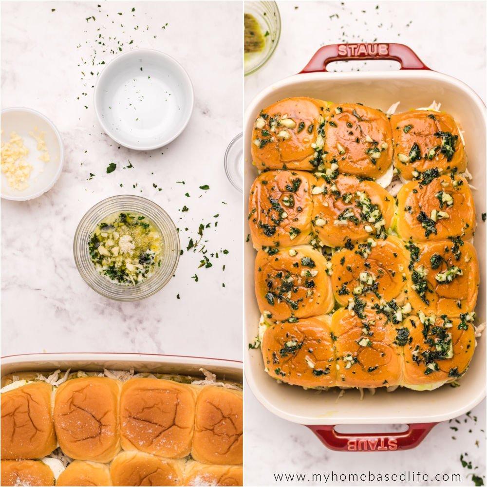 how to make pesto chicken sliders
