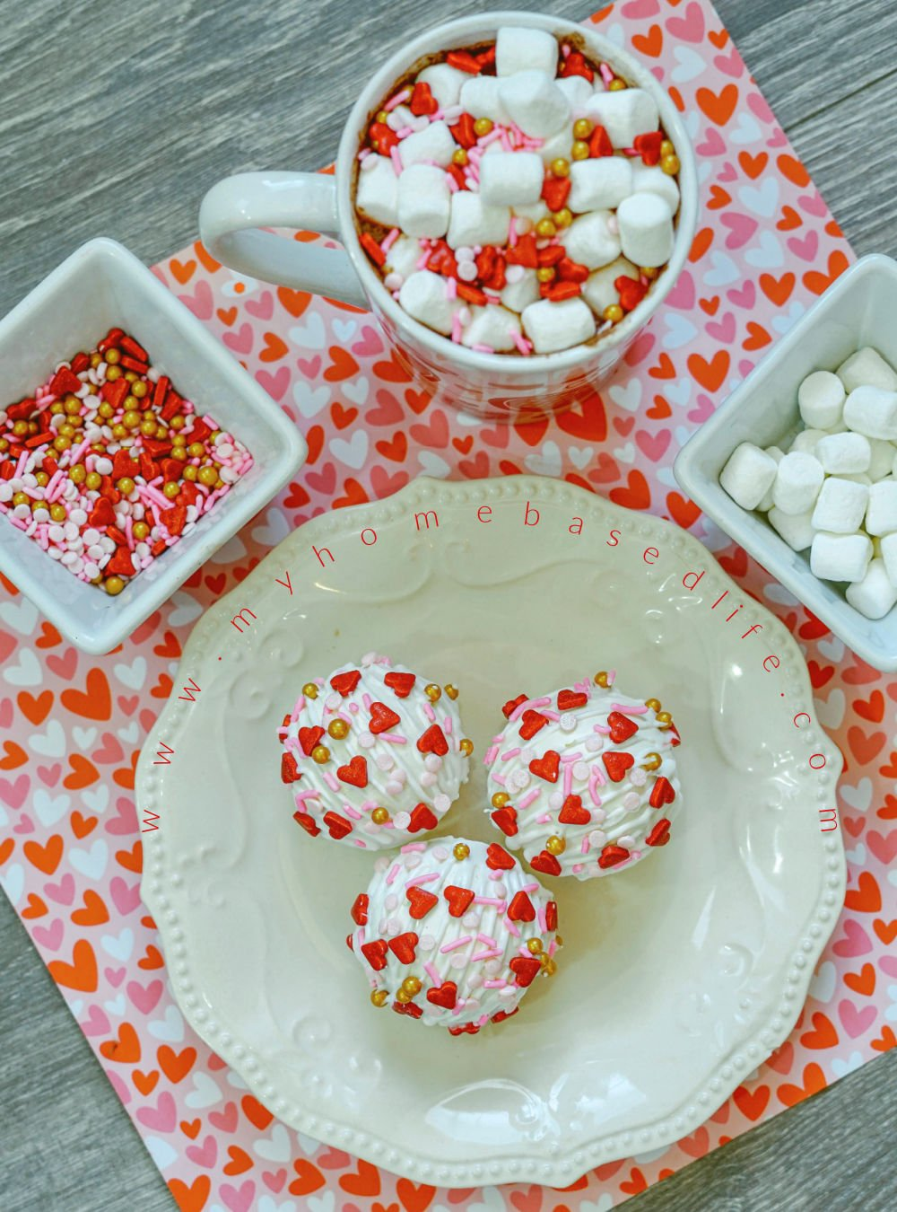 Valentine hot chocolate bomb recipe