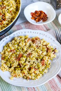 pasta and peas with bacon recipe ready in under 20 minutes