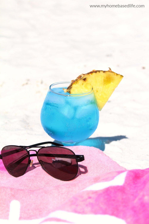 ocean waves blue cocktail
