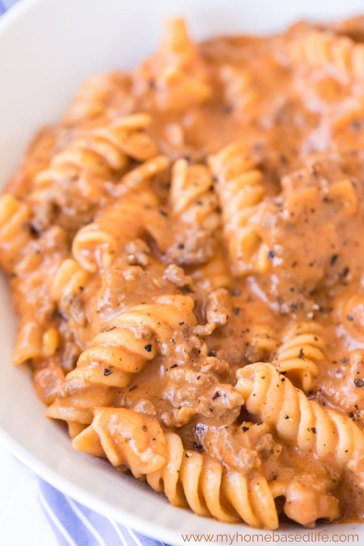 one skillet beef pasta easy comfort food
