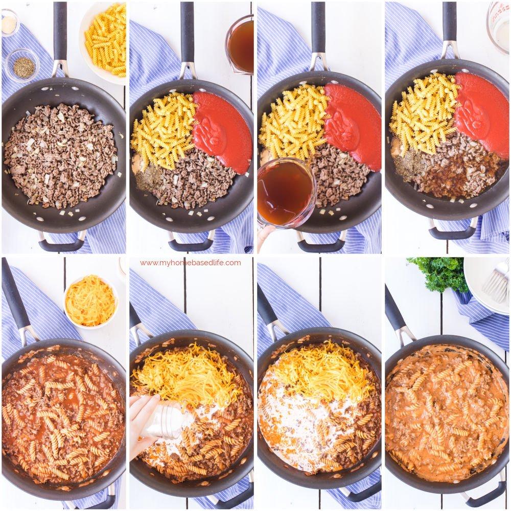 how to make beef pasta hamburger helper